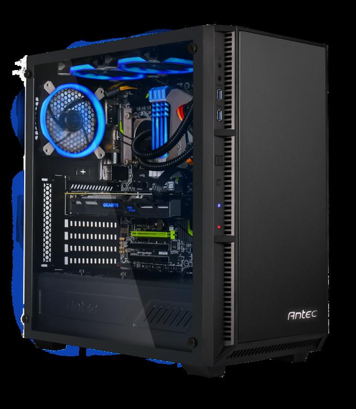 Refresh Steel Core i5-9600K 3 7GHz 16GB 256GB SSD 1TB HDD RTX2070 Gaming  Tower Windows 10 Home