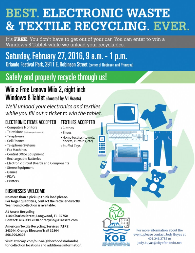 A1 Assets City Of Orlando Host Electronic Recycling Drive 2 27 Technology Cell Phone Circuit Board February 2016